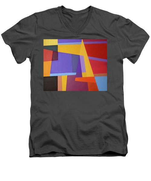 Abstract Composition 7 Men's V-Neck T-Shirt