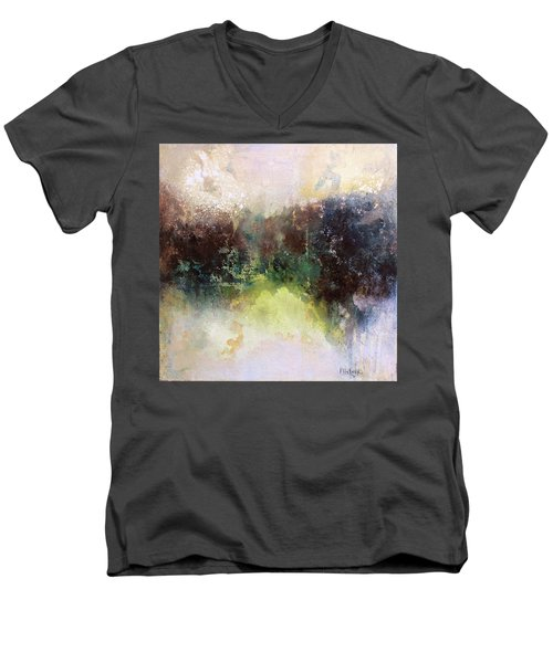 Abstract Contemporary Art Men's V-Neck T-Shirt by Patricia Lintner