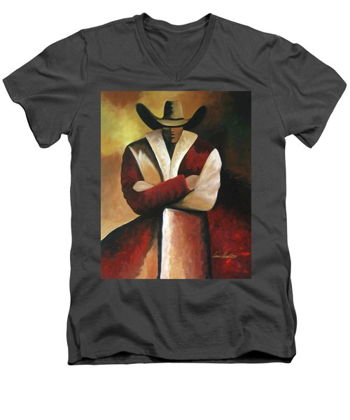 Abstract Cowboy Men's V-Neck T-Shirt