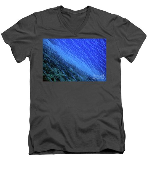 Abstract Crater Lake Blue Water Men's V-Neck T-Shirt