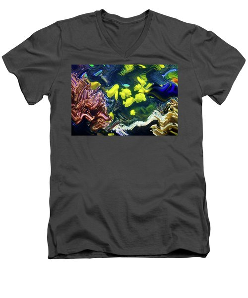 Abstract Dancing Colorful Ish Men's V-Neck T-Shirt
