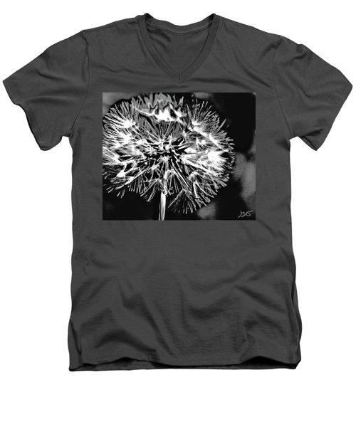 Abstract Dandelion Men's V-Neck T-Shirt