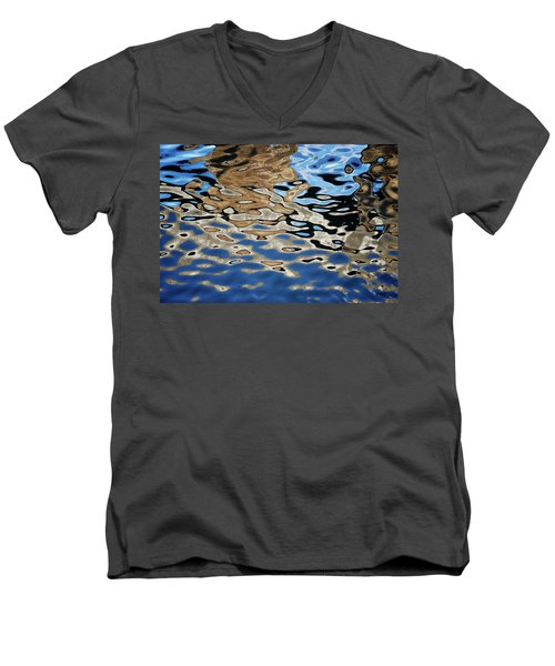 Abstract Dock Reflections I Color Men's V-Neck T-Shirt