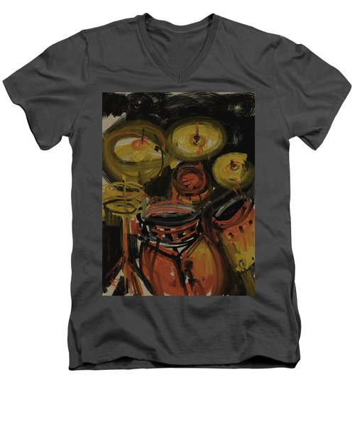 Abstract Drums Men's V-Neck T-Shirt