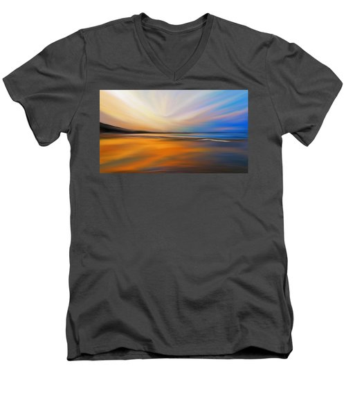 Abstract Energy Men's V-Neck T-Shirt by Anthony Fishburne