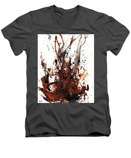 Abstract Expressionism Painting 50.072110 Men's V-Neck T-Shirt