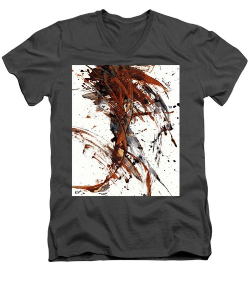 Abstract Expressionism Series 51.072110 Men's V-Neck T-Shirt