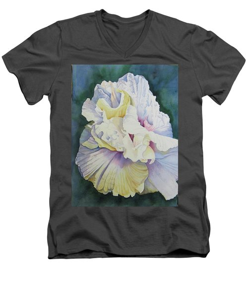 Men's V-Neck T-Shirt featuring the painting Abstract Floral by Teresa Beyer