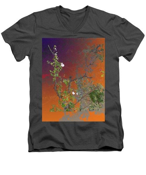 Abstract Flowers Of Light Series #13 Men's V-Neck T-Shirt