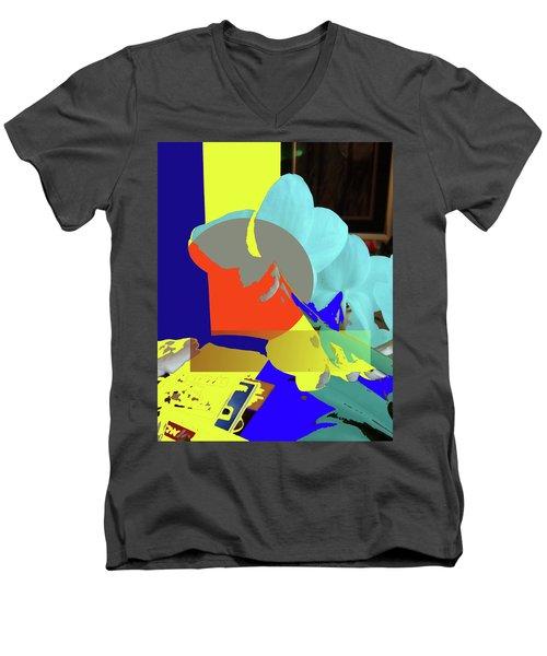 Abstract Flowers Of Light Series #14 Men's V-Neck T-Shirt