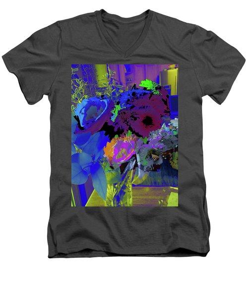 Abstract Flowers Of Light Series #18 Men's V-Neck T-Shirt