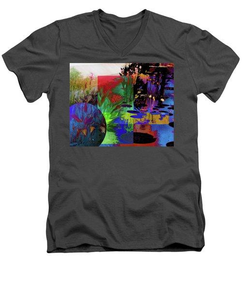 Abstract Flowers Of Light Series #19 Men's V-Neck T-Shirt