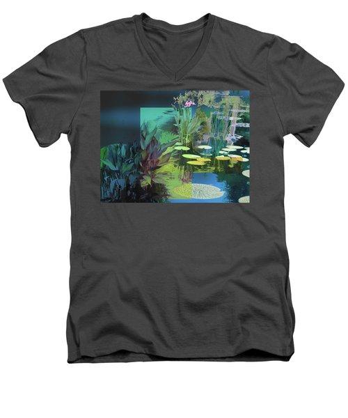 Abstract Flowers Of Light Series #20 Men's V-Neck T-Shirt