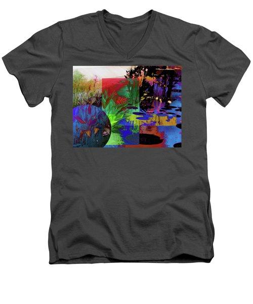 Abstract Flowers Of Light Series #21 Men's V-Neck T-Shirt