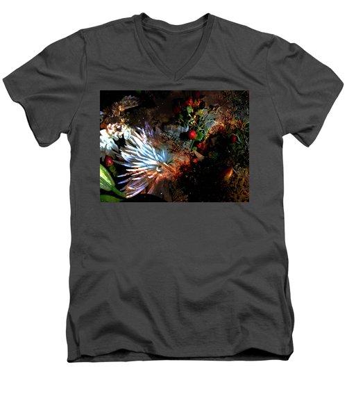 Abstract Flowers Of Light Series #5 Men's V-Neck T-Shirt