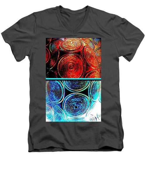 Men's V-Neck T-Shirt featuring the digital art Abstract Fusion 275 by Will Borden