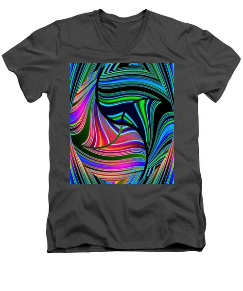 Abstract Fusion 278 Men's V-Neck T-Shirt by Will Borden