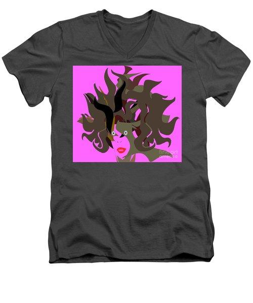 Abstract Glamour Men's V-Neck T-Shirt