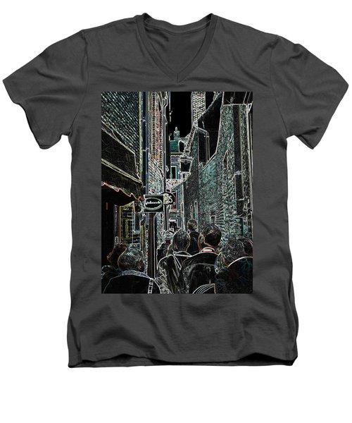 Abstract  Images Of Urban Landscape Series #12b Men's V-Neck T-Shirt