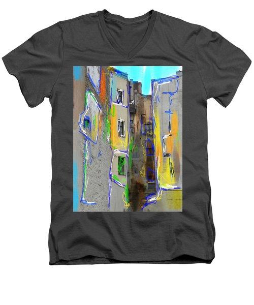 Abstract  Images Of Urban Landscape Series #13 Men's V-Neck T-Shirt