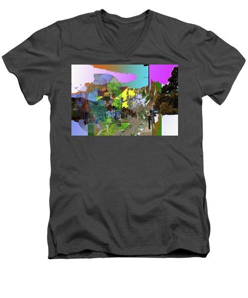 Abstract  Images Of Urban Landscape Series #5 Men's V-Neck T-Shirt