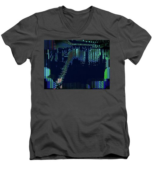 Abstract  Images Of Urban Landscape Series #7 Men's V-Neck T-Shirt