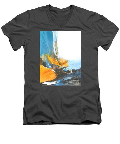 Abstract In Motion Men's V-Neck T-Shirt by Glory Wood