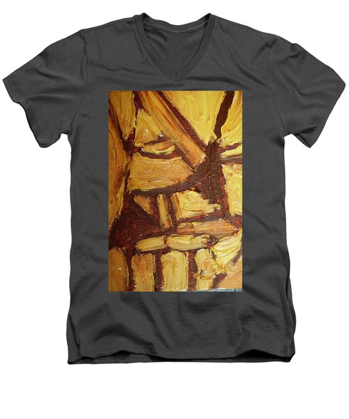 Abstract Lamp Again Men's V-Neck T-Shirt