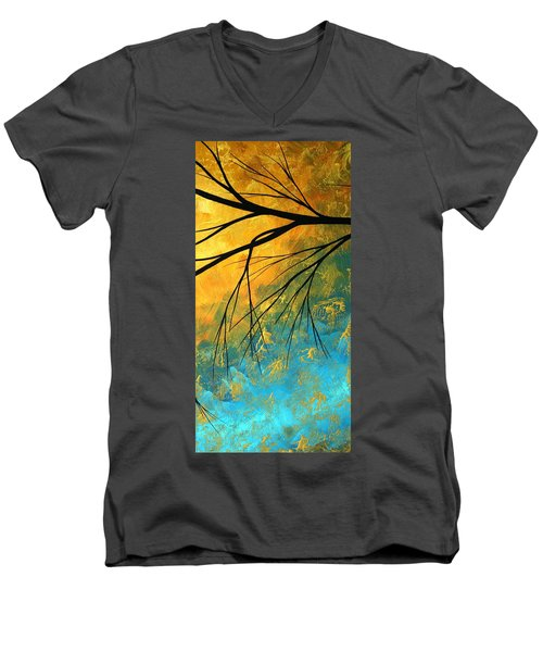 Abstract Landscape Art Passing Beauty 2 Of 5 Men's V-Neck T-Shirt