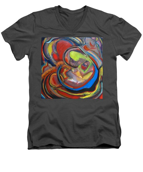 Abstract Life Men's V-Neck T-Shirt