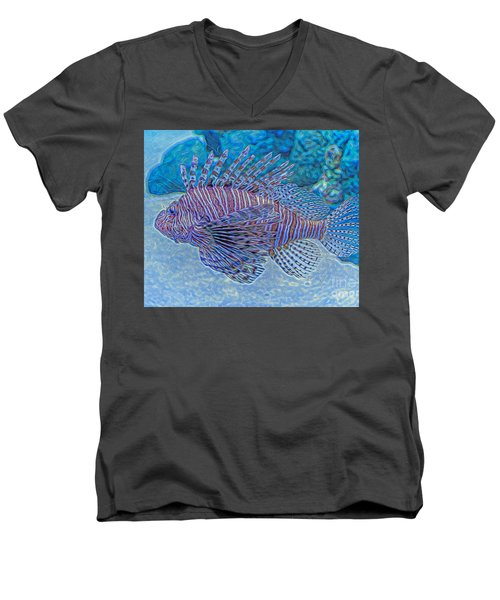Abstract Lionfish Men's V-Neck T-Shirt