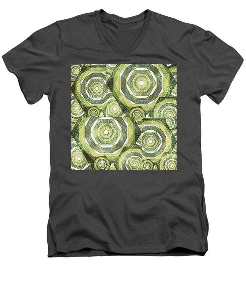 Abstract No. 9-1 Men's V-Neck T-Shirt
