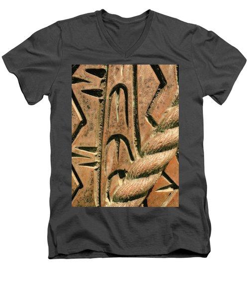 Abstract No. 97-1 Men's V-Neck T-Shirt