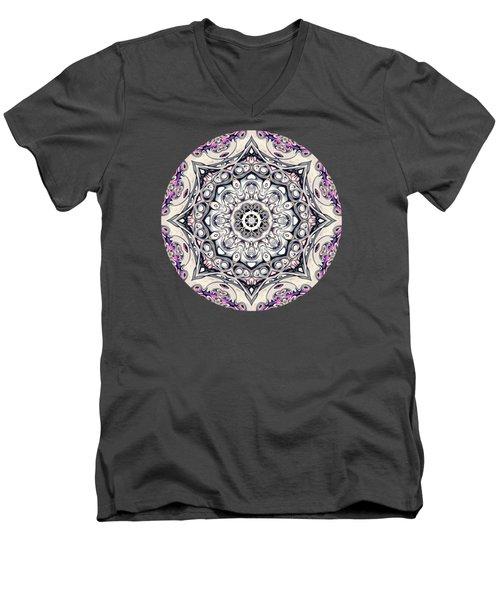 Abstract Octagonal Mandala Men's V-Neck T-Shirt by Phil Perkins