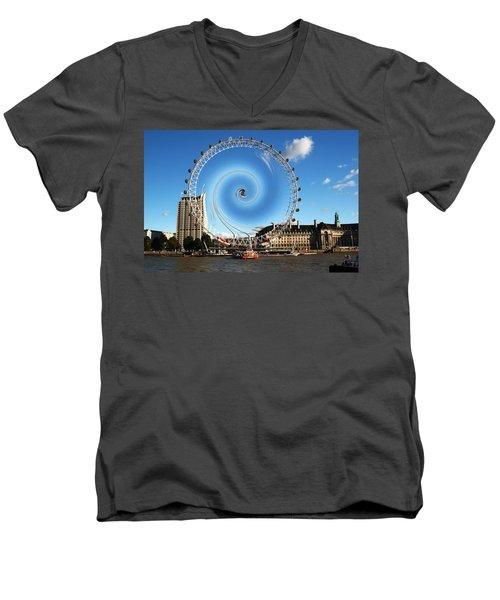 Abstract Of The Millennium Wheel Men's V-Neck T-Shirt