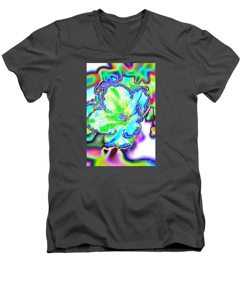 Abstract Of Violet Men's V-Neck T-Shirt by Marilyn Carlyle Greiner