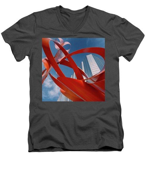 Abstract - Oklahoma City Men's V-Neck T-Shirt