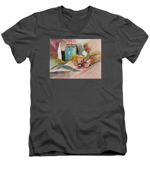 Abstract Opus 3 Men's V-Neck T-Shirt by Larry Hamilton