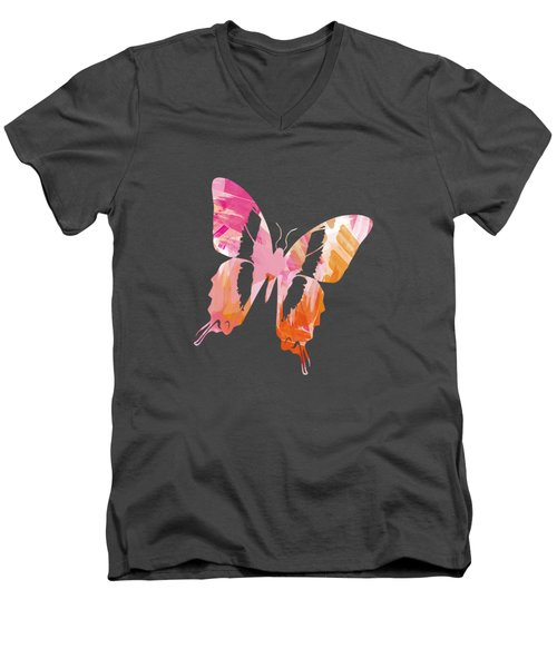 Abstract Paint Pattern Men's V-Neck T-Shirt