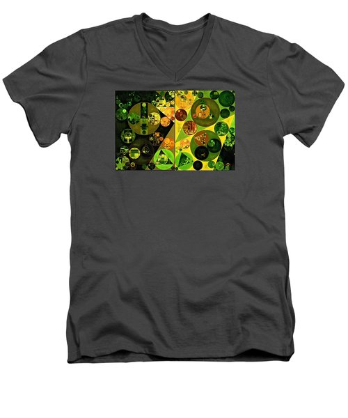 Abstract Painting - Barberry Men's V-Neck T-Shirt