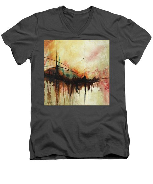 Abstract Painting Contemporary Art Men's V-Neck T-Shirt