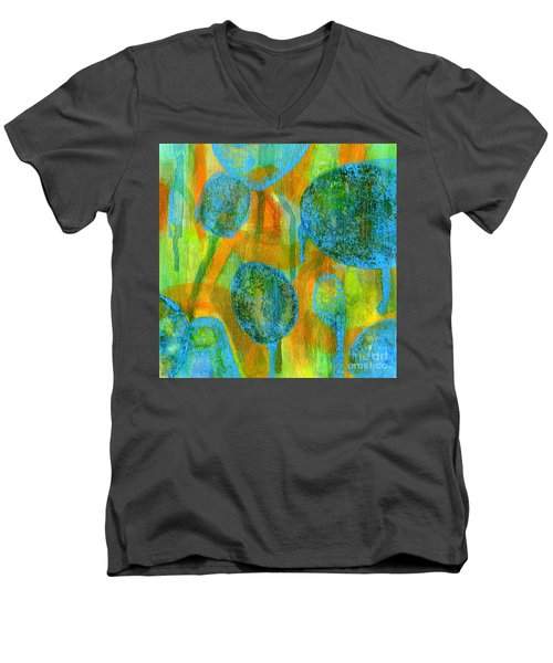 Abstract Painting No. 1 Men's V-Neck T-Shirt by David Gordon