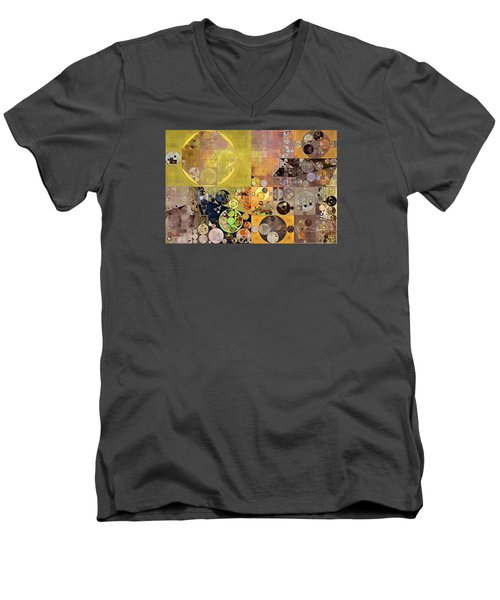 Abstract Painting - Pale Brown Men's V-Neck T-Shirt by Vitaliy Gladkiy