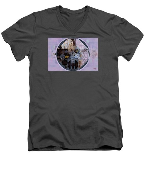 Men's V-Neck T-Shirt featuring the digital art Abstract Painting - Pastel Purple by Vitaliy Gladkiy