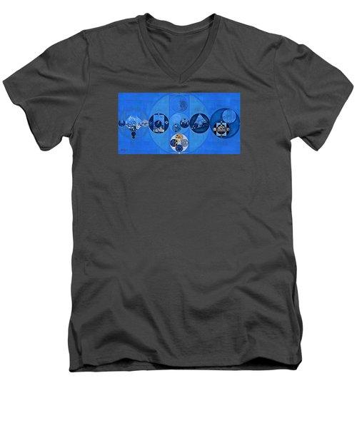 Abstract Painting - Sapphire Men's V-Neck T-Shirt by Vitaliy Gladkiy