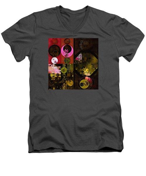 Abstract Painting - Tonys Pink Men's V-Neck T-Shirt by Vitaliy Gladkiy
