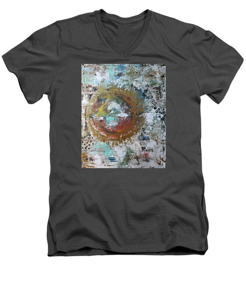 Abstract Paintng Men's V-Neck T-Shirt