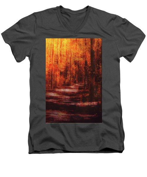 Abstract Path Men's V-Neck T-Shirt