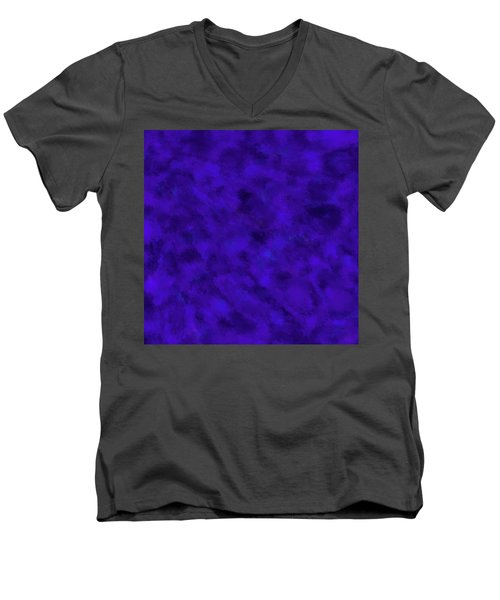 Men's V-Neck T-Shirt featuring the photograph Abstract Purple 7 by Clare Bambers