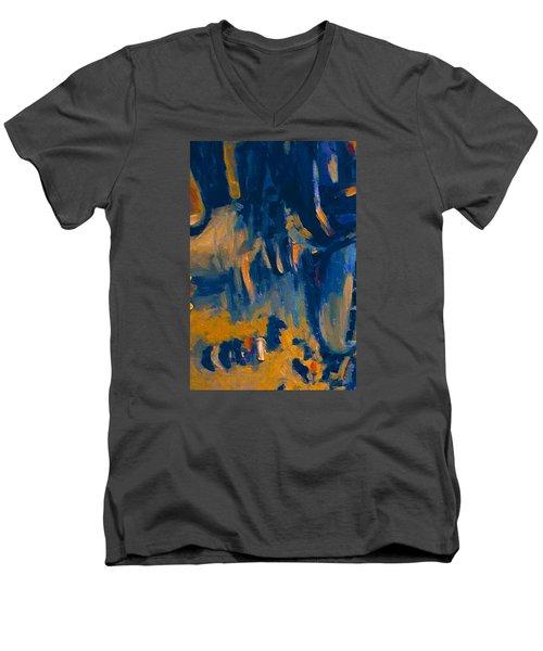 Abstract Sail Men's V-Neck T-Shirt by Nop Briex